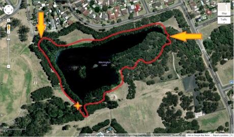 Werrington Lake race track