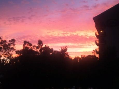 Fiery Sunset Silhouette