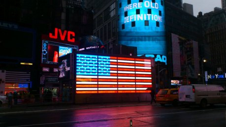 Star Spangled Banner in Lights