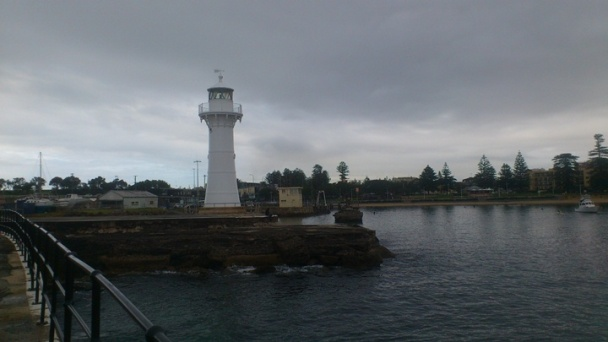 The guidance lighthouse into the fishing marina