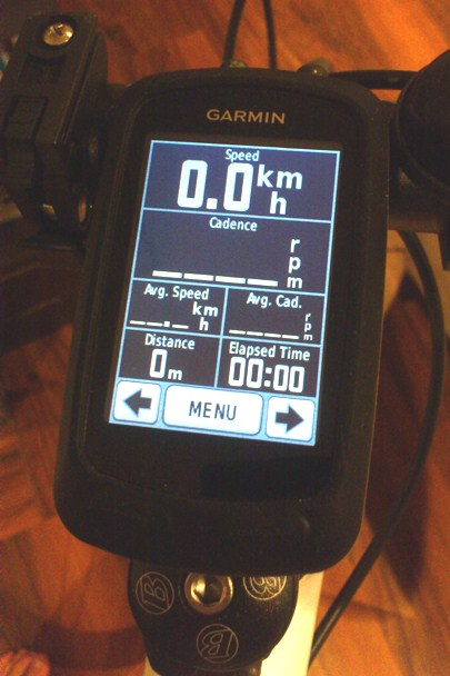 My Garmin Edge 800