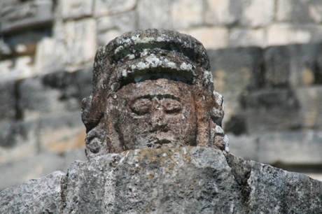 A Head on the Observatory - Chichen Itza