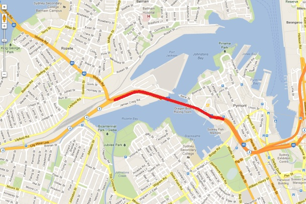 ANZAC Bridge - Google Maps