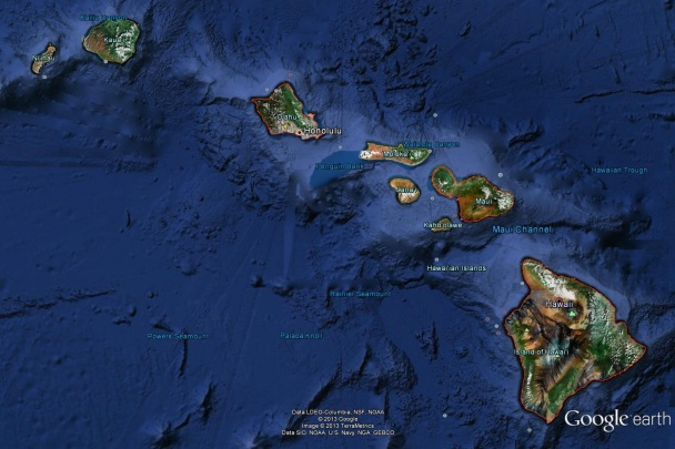 Hawaii - Google Earth
