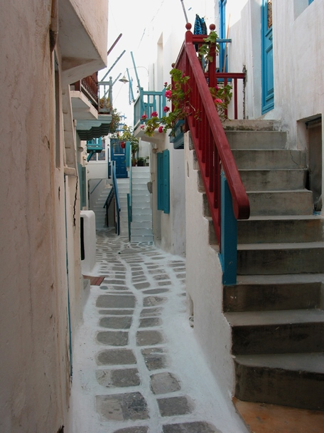 Travel Theme - Pathways - Mykonos
