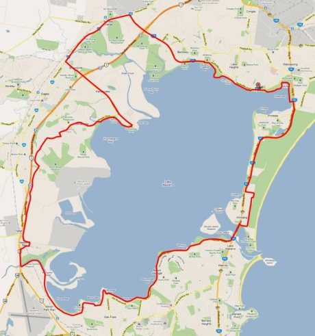 Ride Around the Lake Ride Route 2013