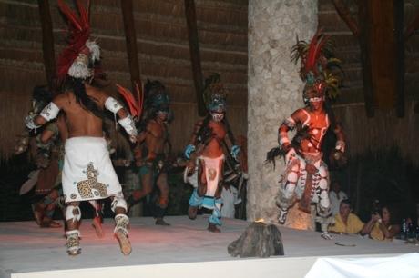 Riviera Maya  -  Xcaret Mayan performers