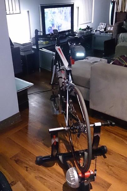 My Road Bike on my Elite turbo trainer