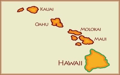 hawaii map - big island