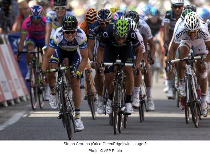 TdF 2013 stage 3 winner - Simon Gerrans