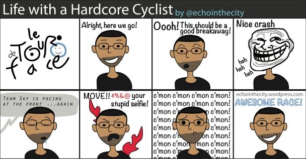 Life-with-hardcore-cyclist-echo-inthe-city-TOUR-de-Face